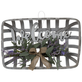 Welcome Lavender Wood Wall Decor