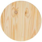 Round Pine Wood Disc