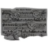 Musical BirdsCling Stamp