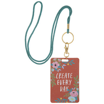 Create Every Day Floral Badge Holder Lanyard
