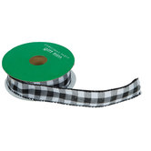 Buffalo Check Wired Edge Ribbon - 7/8""