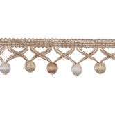Natural & Ivory Ball Fringe Home Decor Trim