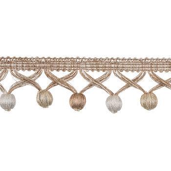 Natural & Ivory Ball Fringe Home Decor Trim