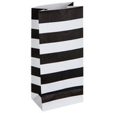 Mini Black & White Striped Paper Sacks
