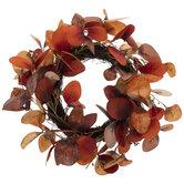 Red, Orange & Brown Eucalyptus Wreath