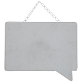 Galvanized Speech Bubble Metal Wall Decor