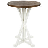 Brown & White Wood Gathering Table