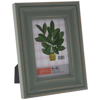 Green Distressed Wood Frame