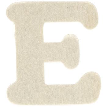 "Wood Letters E - 1 3/4"""