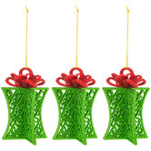 Green Cut-Out Gift Ornaments With Bows