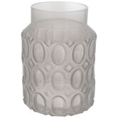 Cloudy Embossed Glass Vase