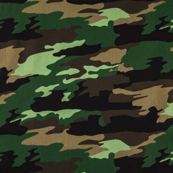 Green Camouflage Apparel Fabric