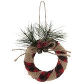 Plaid Striped Wreath Ornaments