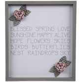 Blessed Spring Floral Wood Wall Decor