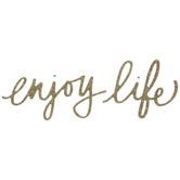 Gold Enjoy Life Glitter Sticker