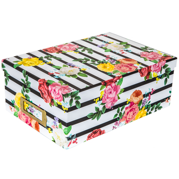 Striped Floral Photo Box