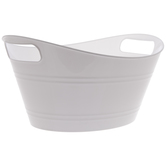 White Oval Container With Handles