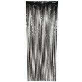 Black Mylar Door Curtain