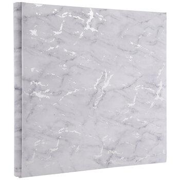 "White & Silver Marble Post Bound Scrapbook Album - 12"" x 12"""