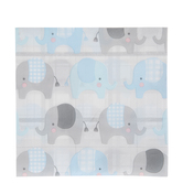 Blue & Gray Elephant Napkins - Large