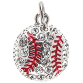 Baseball Charm With Rhinestones