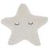 Cream Star With Eyelashes Pillow