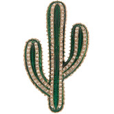 Cactus Rhinestone Brooch