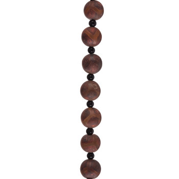 Brown Dyed Ancient Tortoise Agate Round Bead Strand