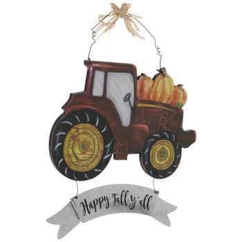 Happy Fall Y'all Tractor Wood Wall Decor