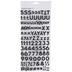 Black Glitter Block Alphabet Stickers