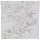 Gray Floral Canvas Wall Decor