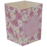 Pink Floral Hello Baby Favor Boxes