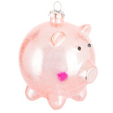 Pink Pig Ball Ornament