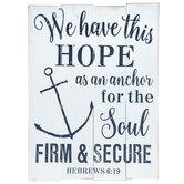 Hebrews 6:19 Wood Wall Decor