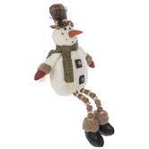 Snowman With Coal Buttons Shelf Sitter