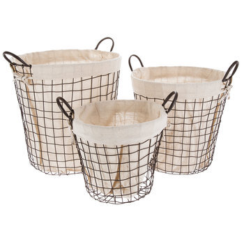 Round Wire Basket Set