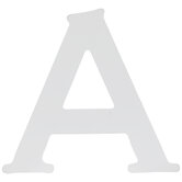 """White Wood Letter A - 4 1/2"""""""