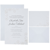 Pearl Swirl Wedding Invitations