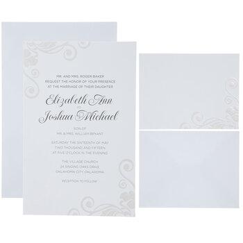 Pearl Swirl Wedding Invitations