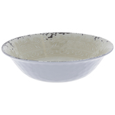 White Lace Crackled Bowl