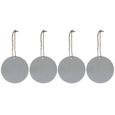 Round Galvanized Blank Ornaments