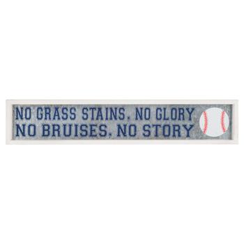 No Grass Stains No Glory Metal Wall Decor
