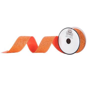 """Orange Glitter Ribbon - 1 1/2"""""""