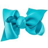 Tornado Blue Grosgrain Bow Hair Clip