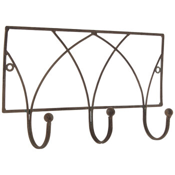 Arch Metal Wall Decor With Hooks