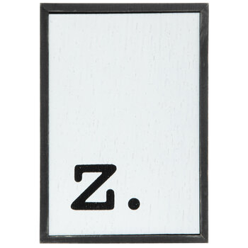 Lowercase Letter Wood Wall Decor - Z