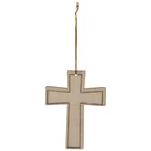 Squared Cross Wood Ornaments