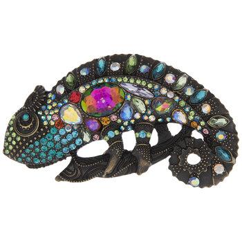 Chameleon Rhinestone Brooch