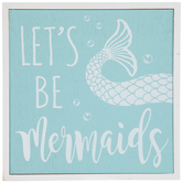 Let's Be Mermaids Wood Wall Decor