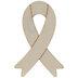 Support Ribbon Wood Shape